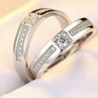 Jual cincin palladium, nikah, kawin, tunangan, sepasang PL6362 Murah