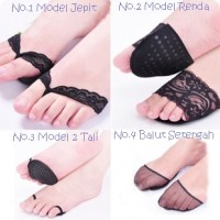 PK010 Bantalan Alas Kaki Depan Stocking Renda Kain Anti Slip Foot Pad