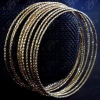 Yaxiya Gelang Keroncong Set 12 Perhiasan Imitasi Lapis Emas 18k 511