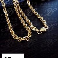 Yaxiya kalung rantai perhiasan imitasi lapis emas aksesoris 18k 489