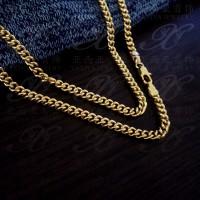 Yaxiya kalung rantai perhiasan imitasi lapis emas aksesoris 18k 488