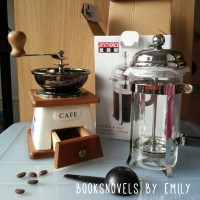 Paket Ceramic Manual Coffee Grinder + Jinmeilai French Press / Plunger