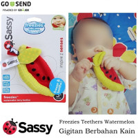 (Semangka) Sassy Freezies Teethers, Gigitan Bahan Kain Bayi 3 Bulan