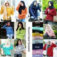 Jual sweater roundhand banyak pilihan warna Murah