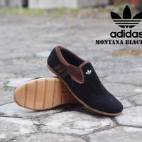 Sepatu Slop Pria Adidas Murah Montana Murah Warna Hitam Suede