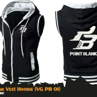 Rompi Jaket Anime Game Point Blank Black Vest Hoodie (VG PB 01)