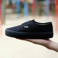 Sepatu Vans Authentic Full Black/Full Hitam/ Hitam Waffle ICC Termurah
