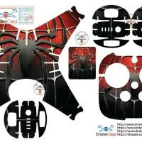 Sticker drone dji phantom 4 / 4 pro Spiderman logo black red