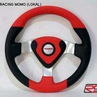 Steer/Stir Racing Momo Evo / Datar 14 Inch Universal Merah Hitam