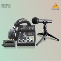 Behringer PODCASTUDIO USB (Paket Rekaman Komplit, Home Recording)