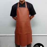 Apron / Celemek PVC (Synthetic Leather) - Coklat Murah