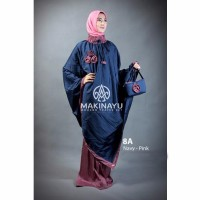 Mukenah Ponco Makinayu Navy Pink Limited