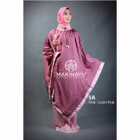 Mukenah Ponco Makinayu Pink Light Pink Diskon