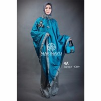 Mukenah Ponco Makinayu Turqois Grey Limited