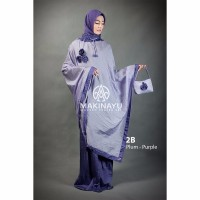 Mukena Ponco Makinayu Plum Purple Limited