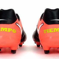 Sepatu Bola Nike Tiempox Genio Leather Black Red