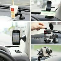 Jual car holder universal di mobil / hp/gopro/actioncam/kartu/botol/clip go Murah