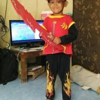 Jual Paket Boboiboy Api (Kostum, Pedang, Topi, Gelang) Murah