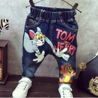 JEANS TOM JERRY | CELANA JEANS ANAK | JEANS RIPPED IMPORT