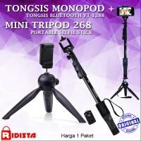 Jual Tongsis Monopod Bluetooth Yunteng Yt-1288 + Tripod Mini 268 Murah