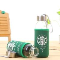 400ml Botol Glass+Sarung Starbucks ASI KACA Juice Jeruk Teh Kopi Bayi