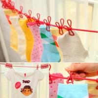 Tali Jemuran Clip jumper popok kaos kaki bayi socks baju lahiran clodi