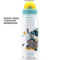 550ml BOX WONDERLAND BROS ORIGINAL CRYSTAL STRAW botol sedotan play TK