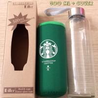 500ml Botol Glass+Sarung Starbucks ASI KACA Juice Jeruk Teh Kopi Bayi