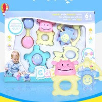 Baby toys 5in1 Bell Mainan Motif Monyet Cute Pink