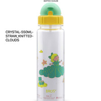 550ml KNITTED CLOUDS BROS ORIGINAL CRYSTAL 550ML STRAW playgroup bento