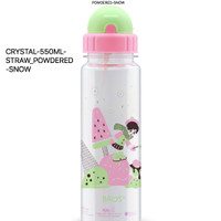 550ML STRAW POWDERED SNOW BPA FREE BROS ORIGINAL CRYSTAL botol girl sd