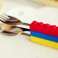 cutlery set lego/sendok makan anak/sendok garpu travel Berkualitas