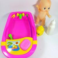 Jual Mainan anak perempuan 3, 4 tahun bak mandi bayi aksesoris