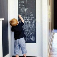Vinyl Removable Wall Stickers Black Board Papan Tulis Kapur