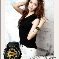 JAM TANGAN WANITA CASIO BABY G SHOCK BGA 110 BLACK LIST GOLD