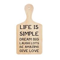 Wall Stiker Talenan Life Simple Quotes Cafe Cutting Sticker Dekorasi