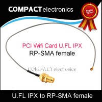 PCI Wifi Card U.FL IPX to RP-SMA female RF Pigtail Cable Jumper