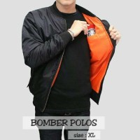 Jaket Bomber / Jaket Pilot Warna Hitam
