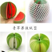 Note / notes / kertas memo buah apel pear semangka buku stationary art