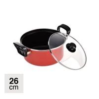 Panci Dutch Oven 26cm - Merah - Maspion