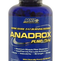 MHP Anadrox 224 caps ( Fat Burner Nitric Oxide 224caps Pump Burn )