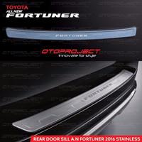 Sill Plate Pintu Belakang / Rear Door Sill Chrome All New Fortuner Vrz
