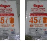 Kantong Sampah Putih 45 Liter | Bagus Recyclable Trash Bag Medium