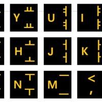"Stiker Keyboard Huruf Hangul Korea +Tombol Numeric Laptop 19"""