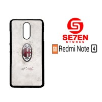 Casing Xiaomi Redmi Note 4 AC Milan Football Club Logo Custom Hard Cas