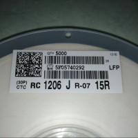 Resistor SMD 15R / 150 / 15 ohm model 1206