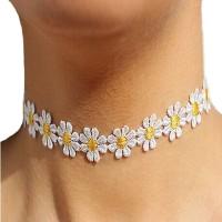 W14 Kalung Chocker choker Necklace Flower Vintage Kalung