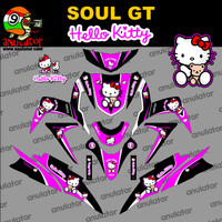 Sticker striping motor stiker Yamaha Mio Soul GT Hello Kitty 3 Spec A