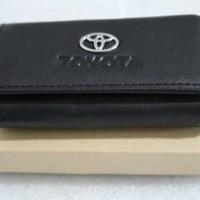 Dompet STNK -gantungan kunci mobil/motor TOYOTA (100% kulit asli)
