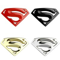 Superman Superhero Emblem Sticker Stiker Logo 3D Car Mobil Motor Metal